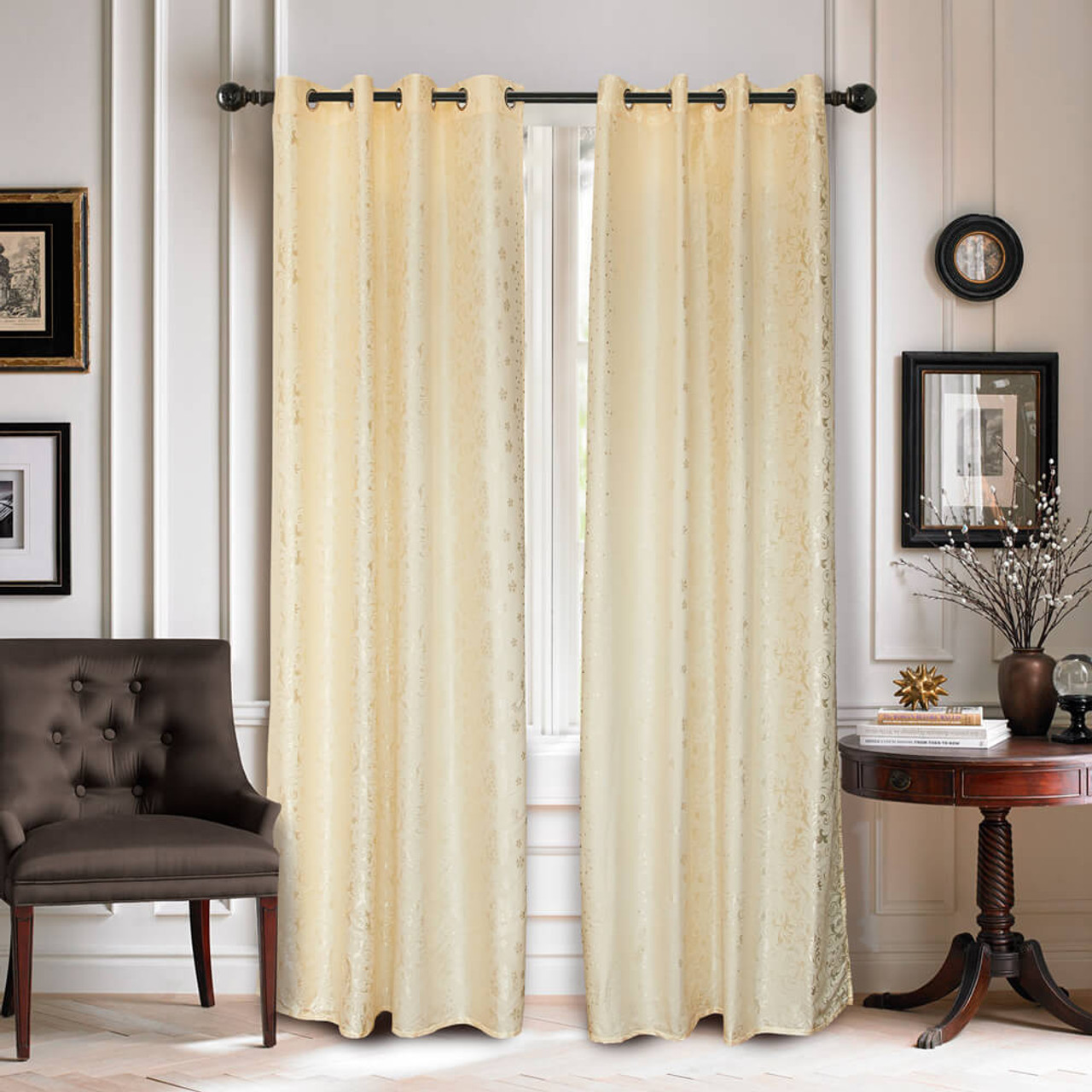 Curtain Panel Semi-Blackout Drapes, DMC716 Dolce Mela Ambassador Window Treatments