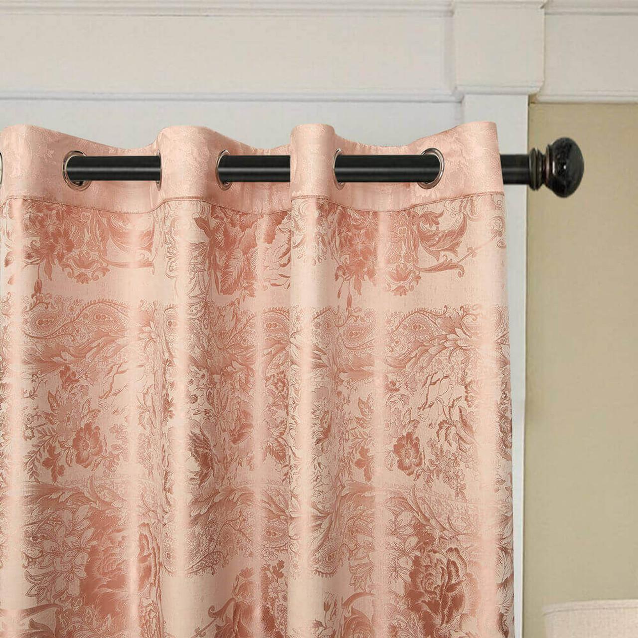 Jacquard Curtain Panel Semi-Blackout Drapes, DMC717 Dolce Mela 8171460150924