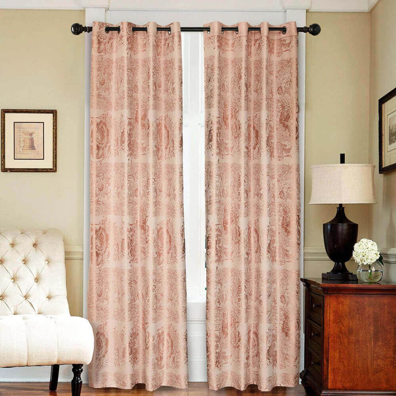 Drop-Shipping Curtain Panel Semi-Blackout Drapes, DMC717 Dolce Mela