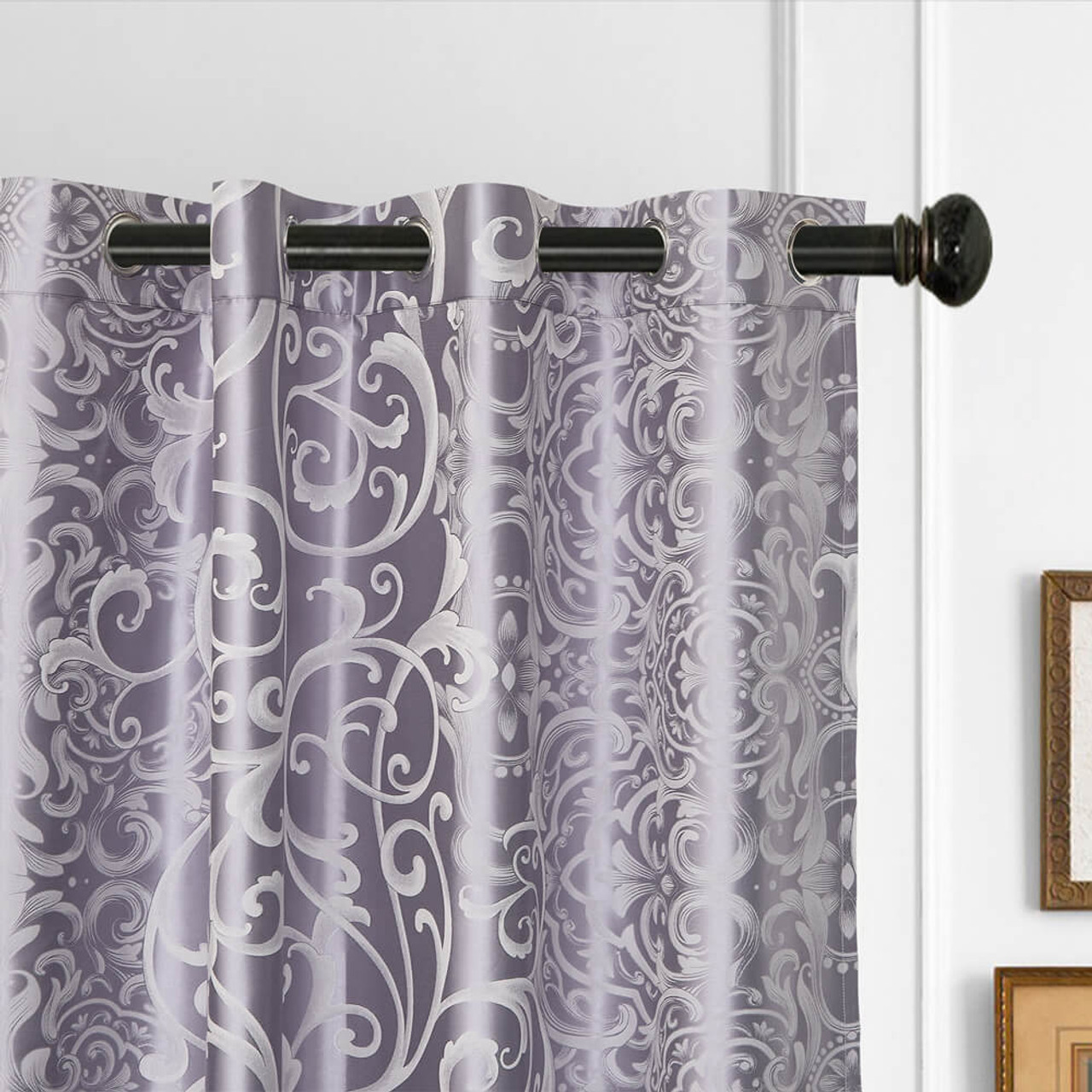Drop-Shipping DMC718 Dolce Mela Curtain Panel Semi-Blackout Drapes
