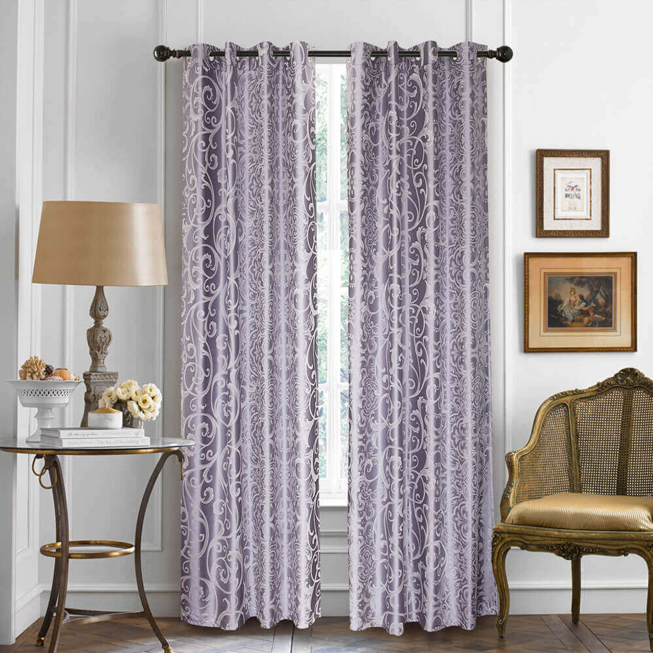 Curtain Panel Semi-Blackout Drapes, DMC718 Dolce Mela Las Vegas Window Treatments