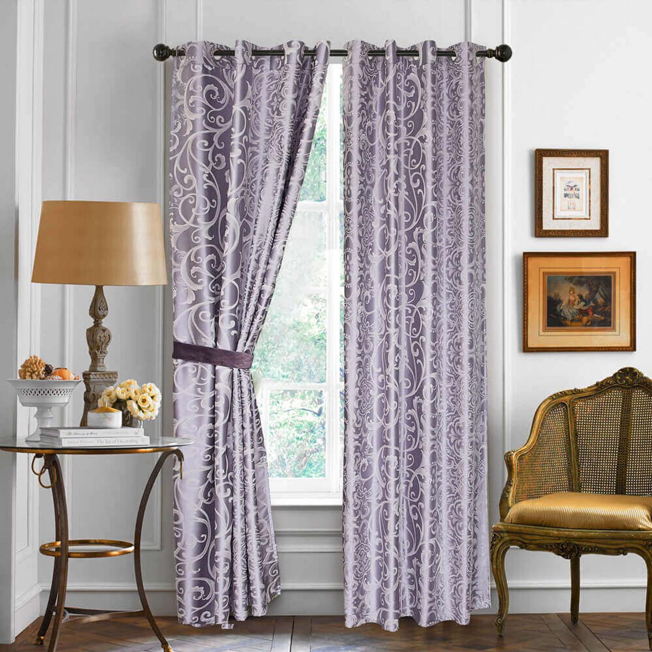 DMC718 Dolce Mela Curtain Panel Semi-Blackout Drapes 8171460151082