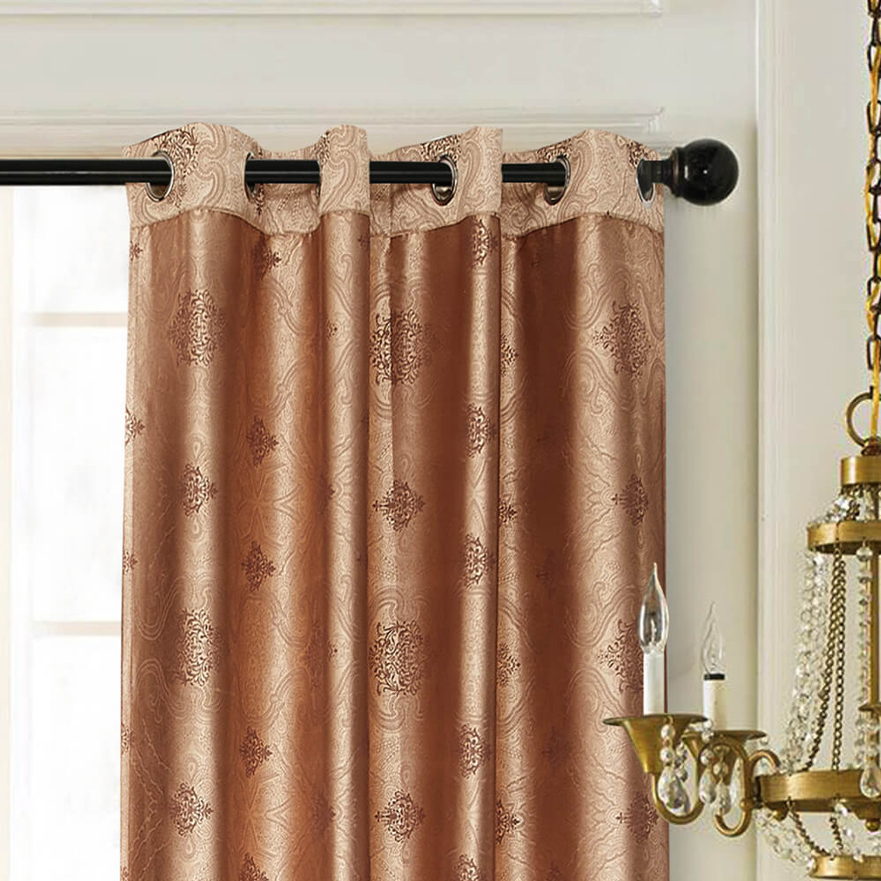 Curtain Panel Semi-Blackout Drapes, DMC719 Dolce Mela Los Angeles Window Treatments