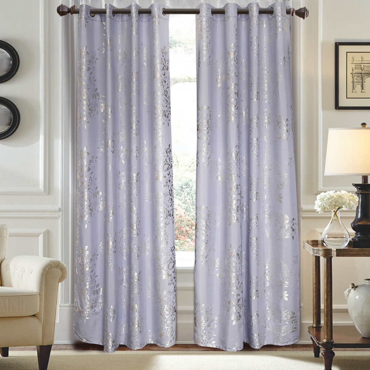 Curtain Panel Semi-Blackout Drapes, DMC720 Dolce Mela Munich Window Treatments