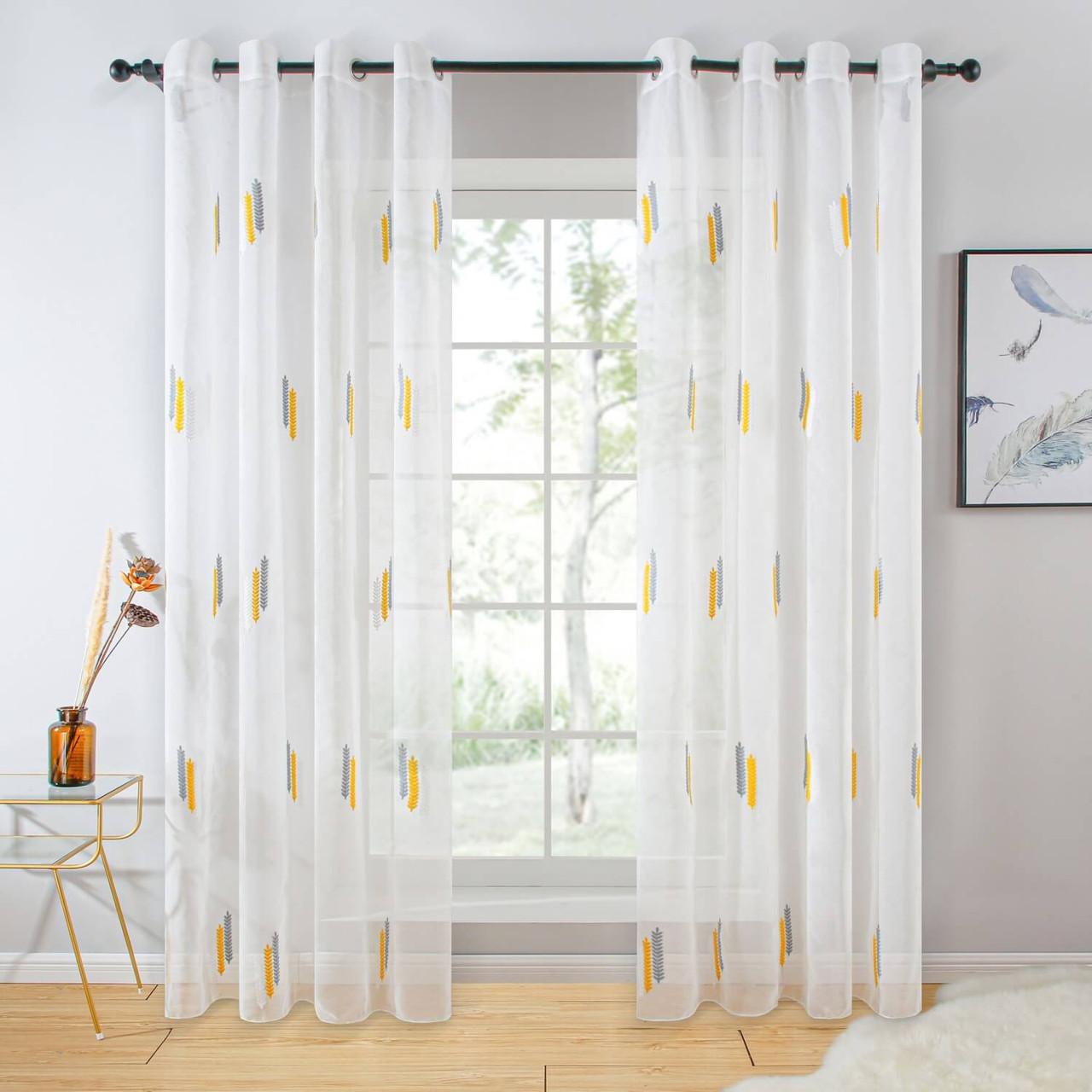 Sheer Curtain Panel Grommet-Top Window Treatments DMC723 Dolce Mela 8171460151532