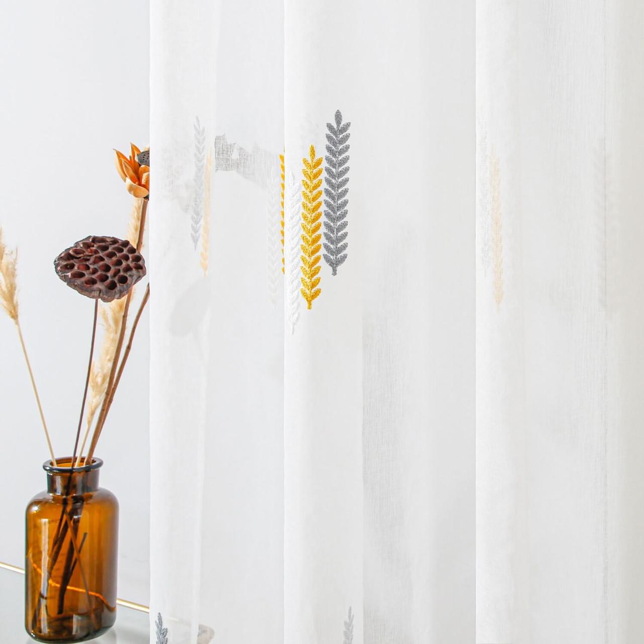 Dolce Mela Sheer Curtain Panel Grommet-Top Window Treatments DMC723  8171460151532