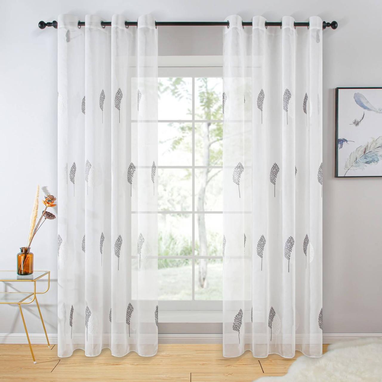Sheer Curtain Panel Grommet-Top Window Treatments DMC724 Dolce Mela 8171460151600