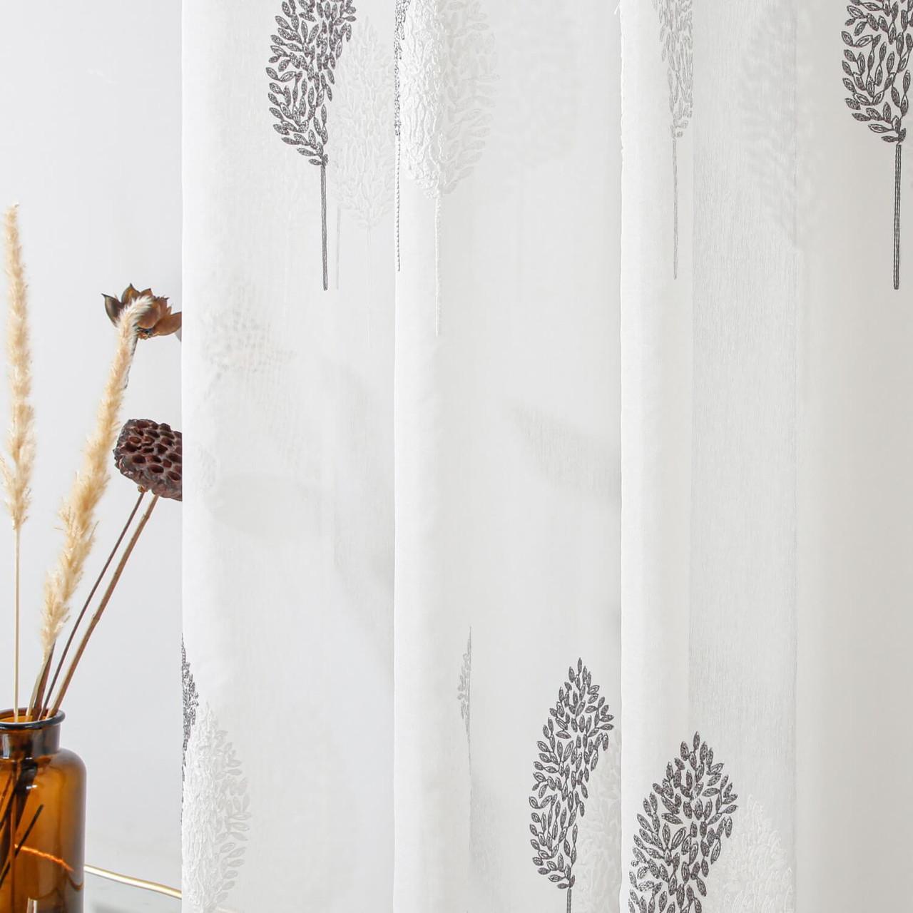 Dolce Mela Sheer Curtain Panel Grommet-Top Window Treatments DMC724  8171460151600
