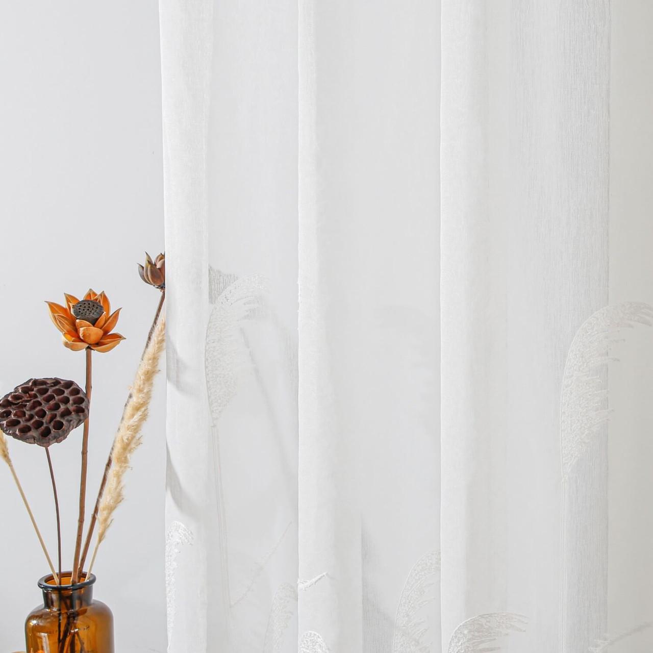 Sheer Curtain Panel Grommet-Top Window Treatments DMC725 Dolce Mela 8171460151778