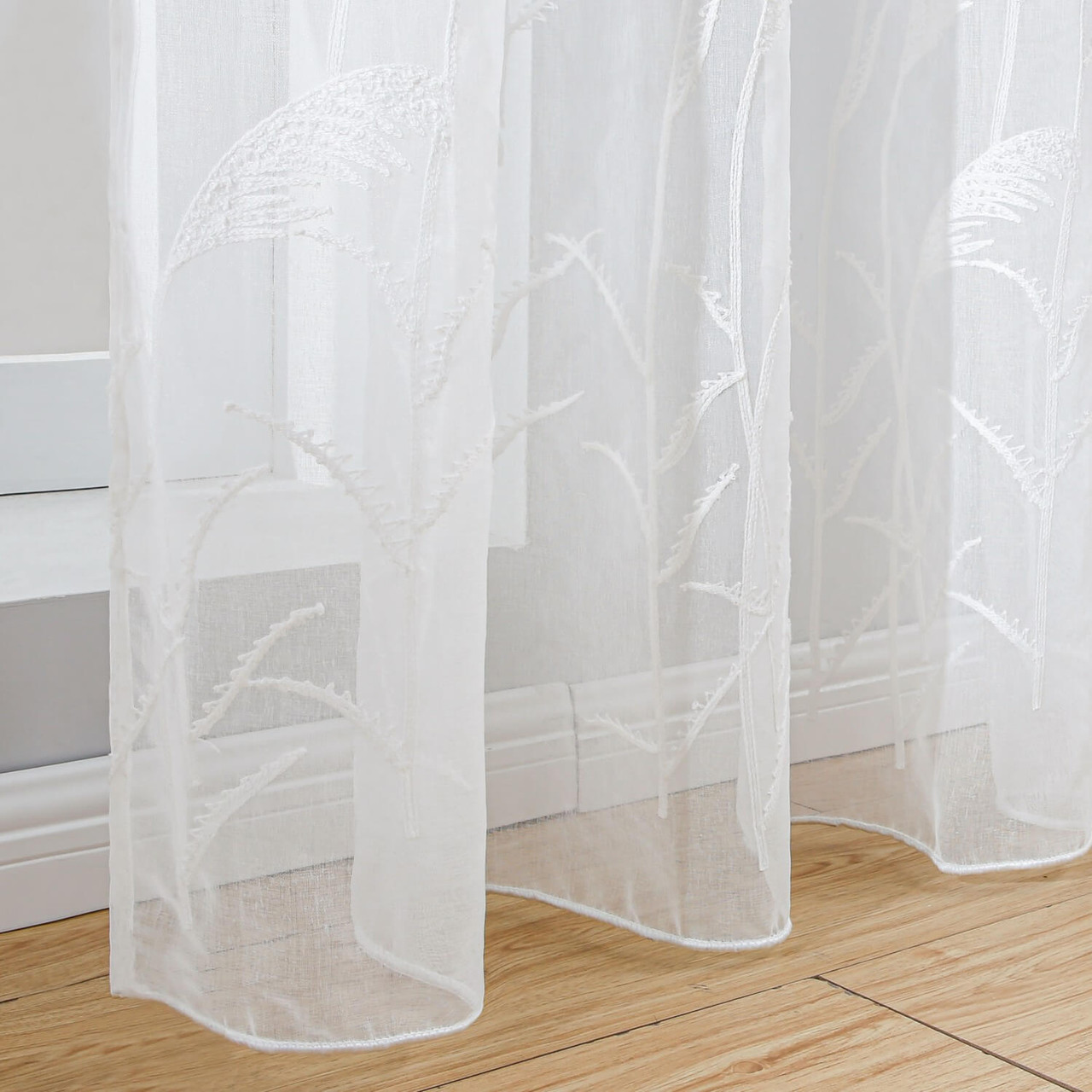 Dolce Mela 8171460151778 Sheer Curtain Panel Grommet-Top Window Treatments DMC725