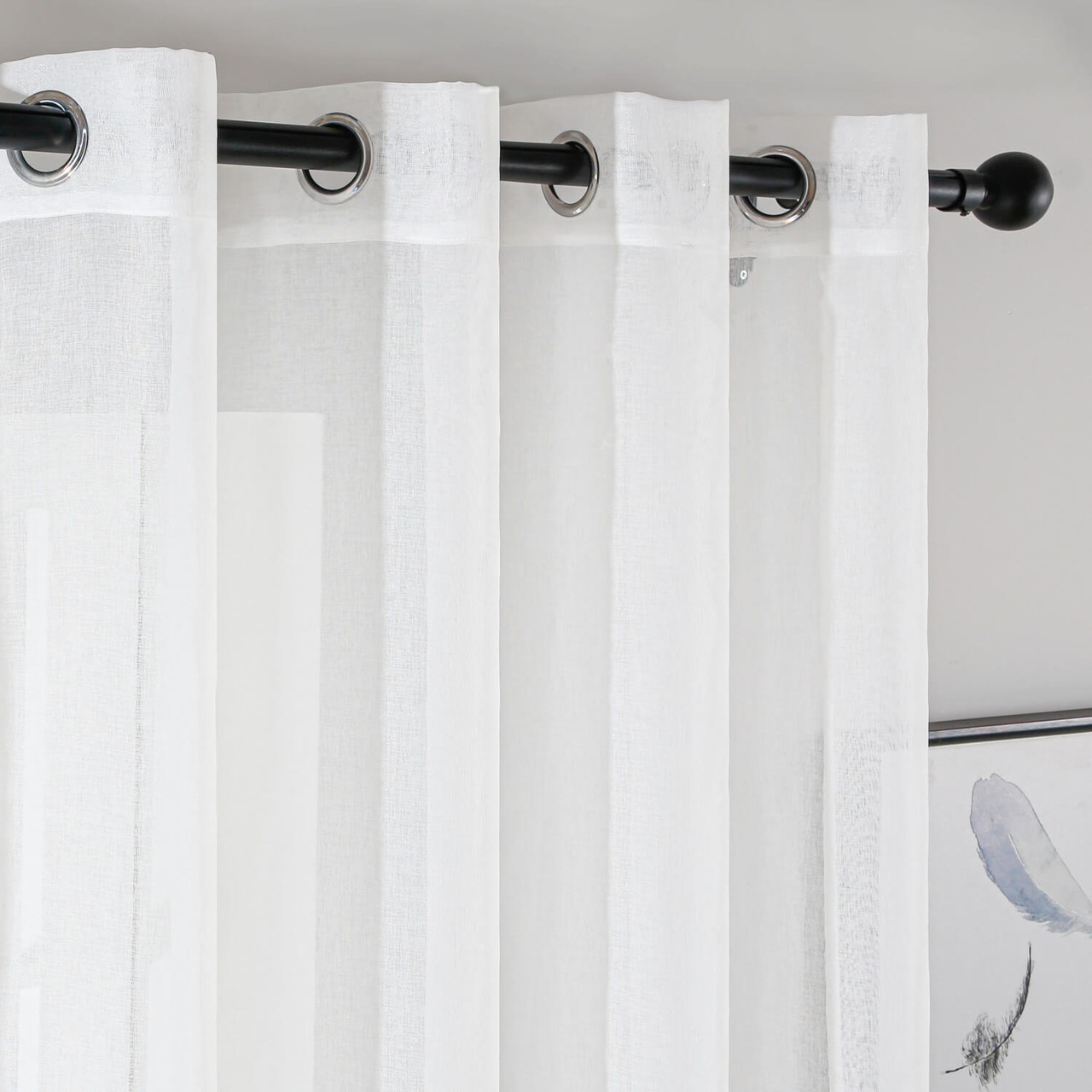 Curtain Panel Grommet-Top Window Treatments Dolce Mela