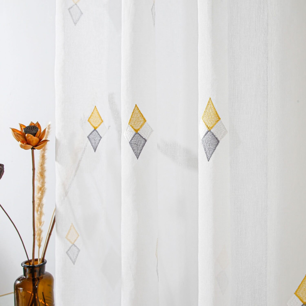 Sheer Curtain Panel DMC726 Dolce Mela 8171460151846