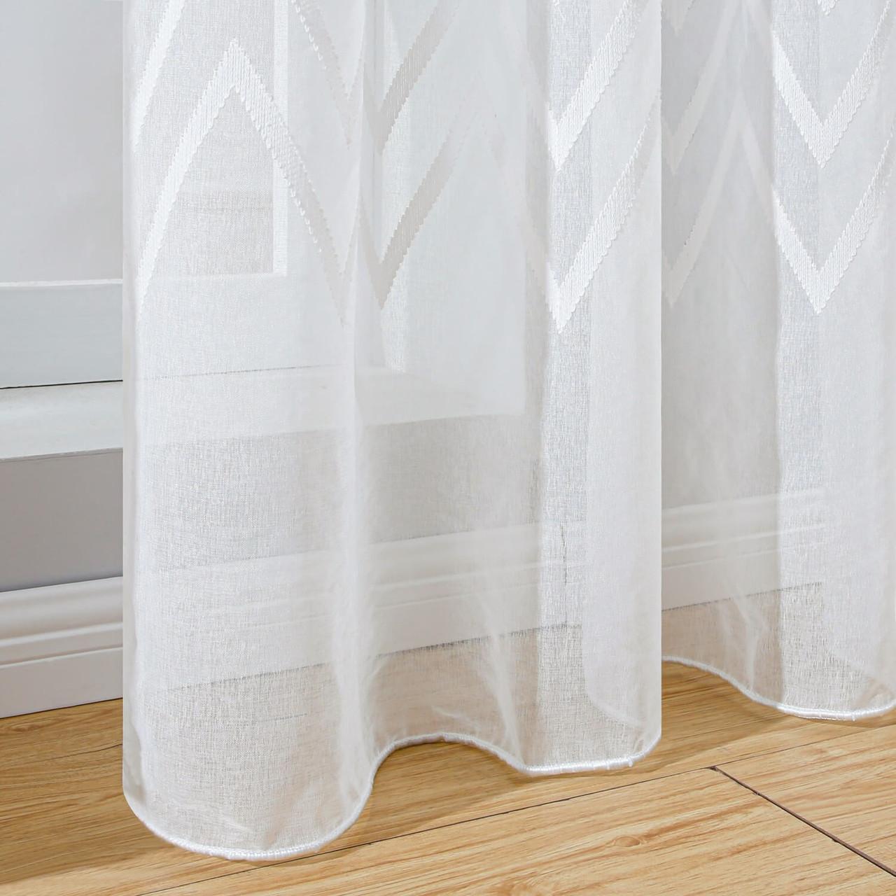 Sheer Curtain Panel Window Treatments DMC727 Dolce Mela 8171460151914