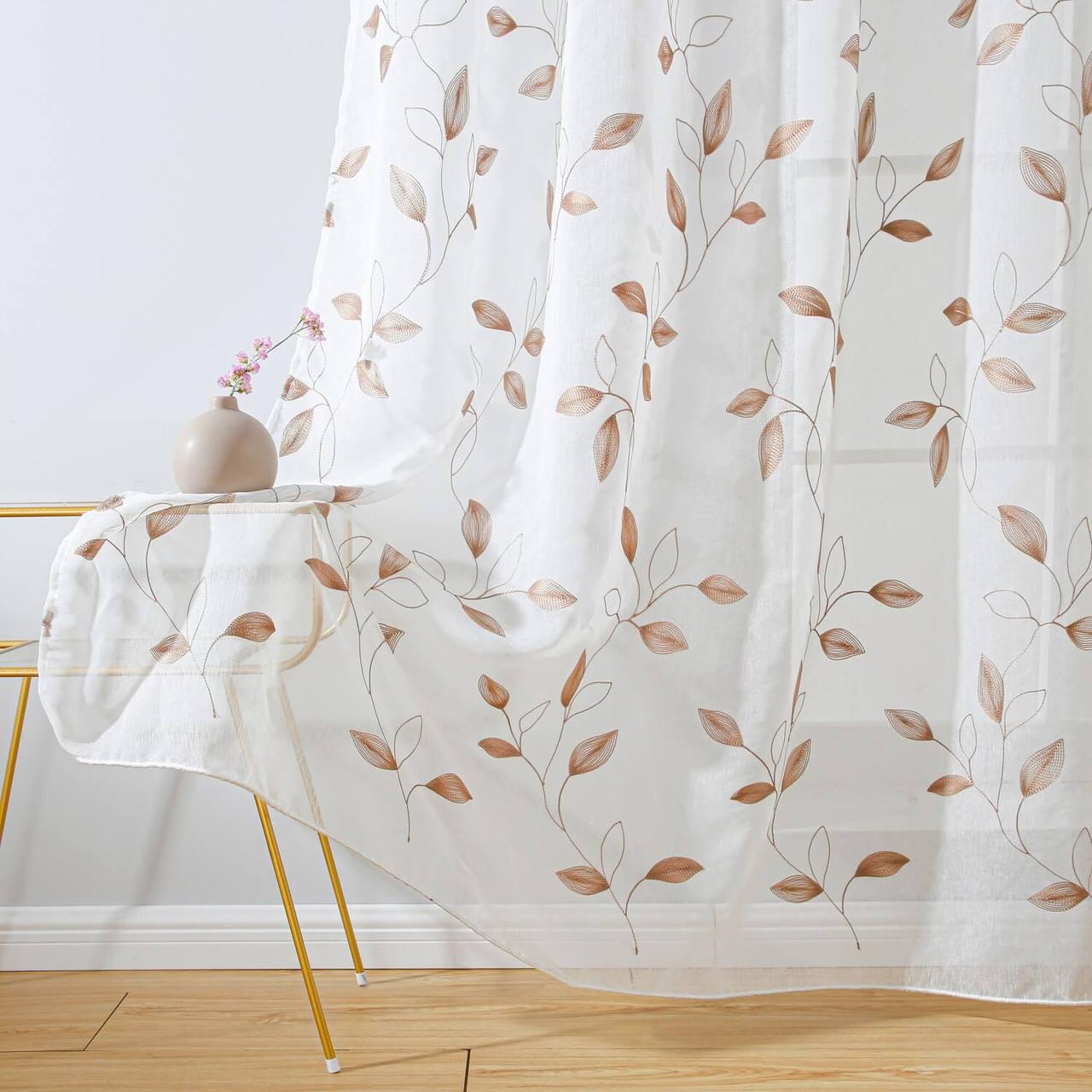 Floral Embroidery Window Treatments DMC729 Dolce Mela 8171460152140