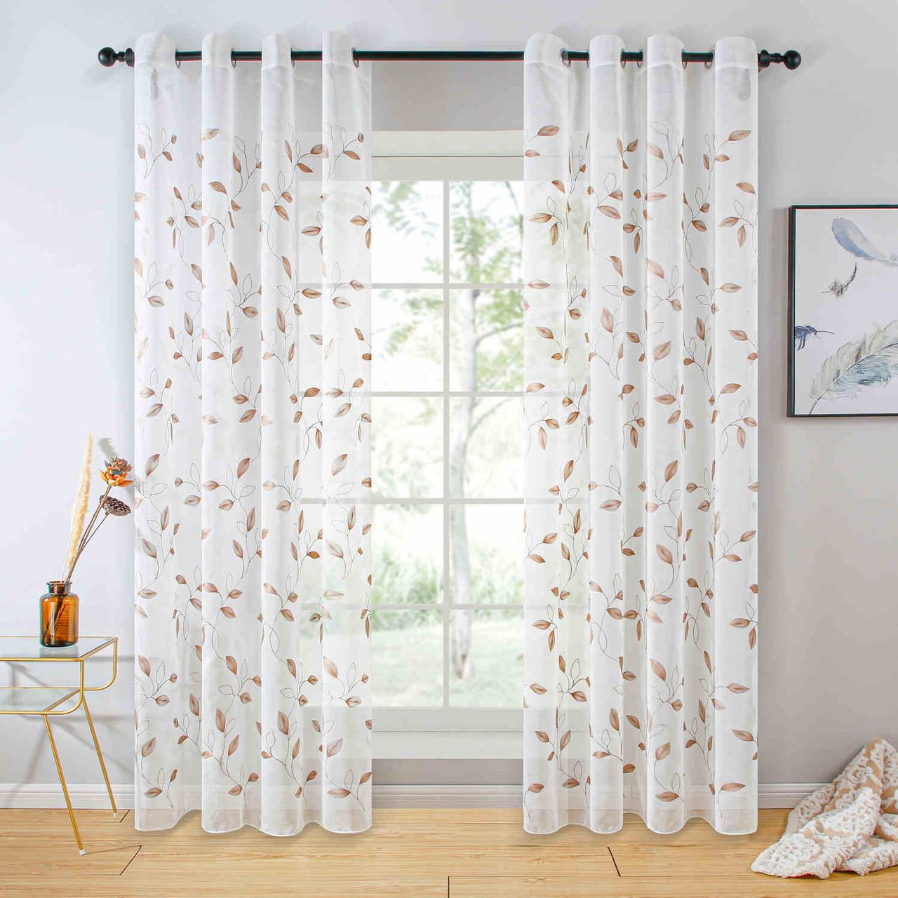 Sheer Curtain Panel Grommet Top Window Treatments Dmc729 Dolce Mela 8171460152140