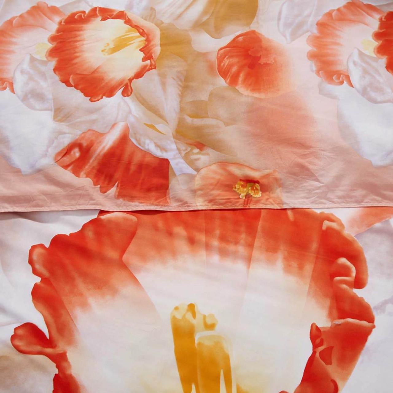 Duvet Cover Set, Queen size Floral Bedding, Dolce Mela - April DM702Q