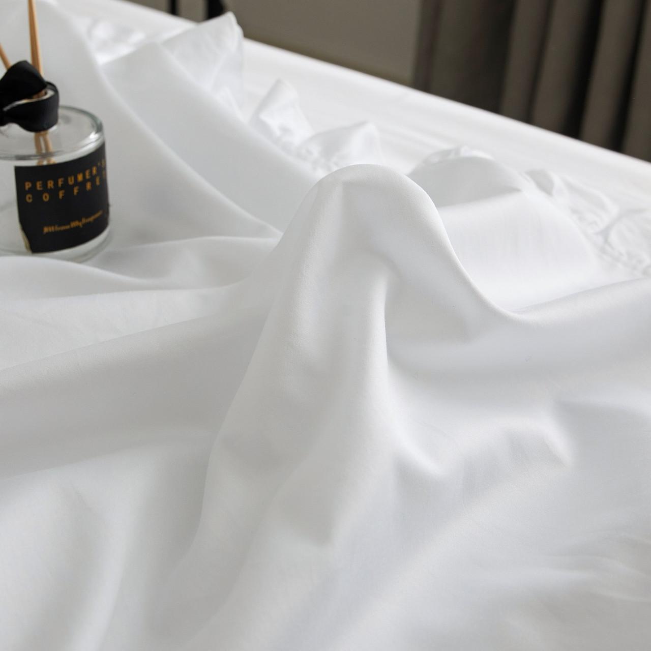 DM807T Ruffle Edge Bedding - Snow White: 4 Pieces Luxury Twin Size Duvet Cover Set 100% Cotton