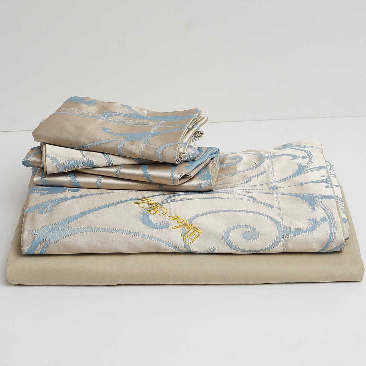 Bed-in-a-Bag-Luxury Jacquard King Size Duvet Cover Set  Drop-shipping