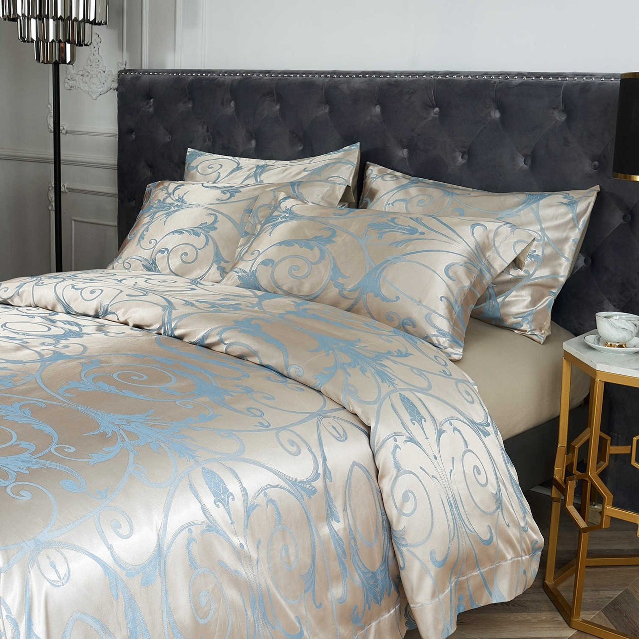DM800Q Jacquard Queen Size Duvet Cover