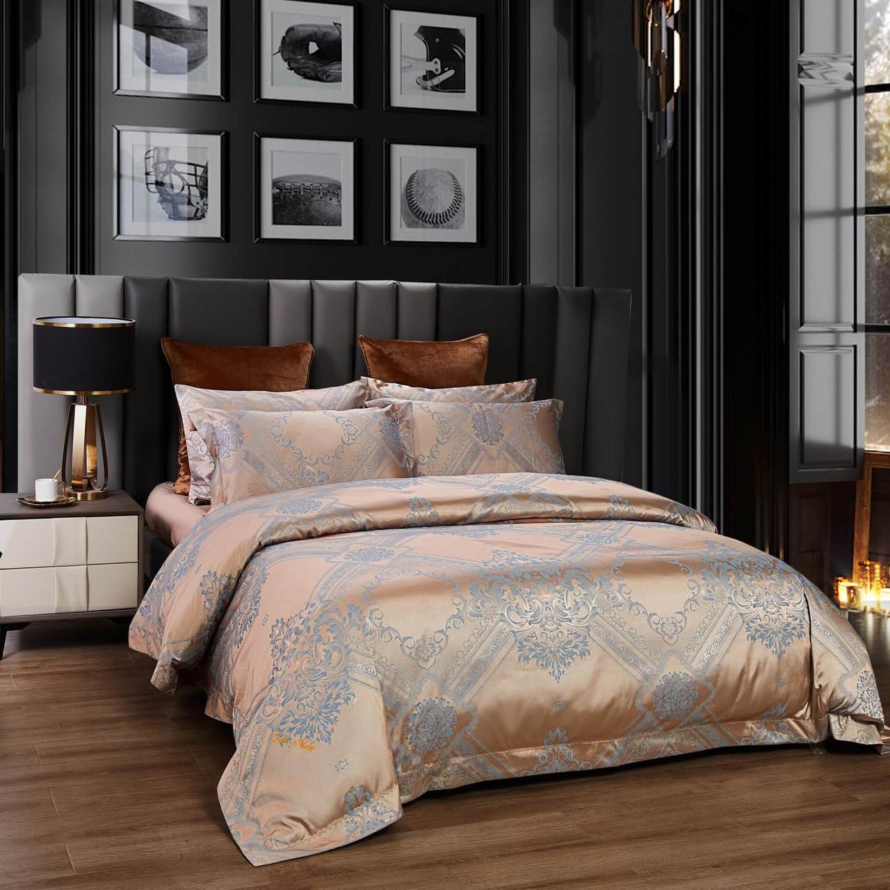 DM810Q - 6 Pieces Luxury Jacquard Queen Size Duvet Cover Set  - Nantes by Dolce Mela