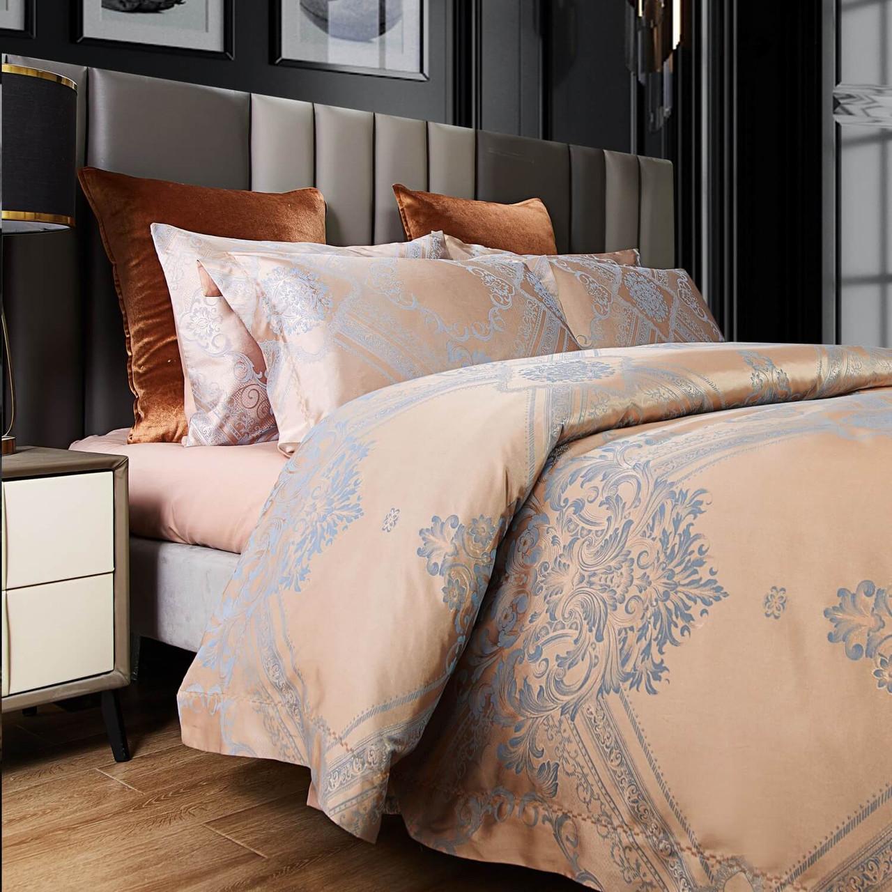 6 Pieces Luxury Jacquard Queen Size Duvet Cover Set DM810Q