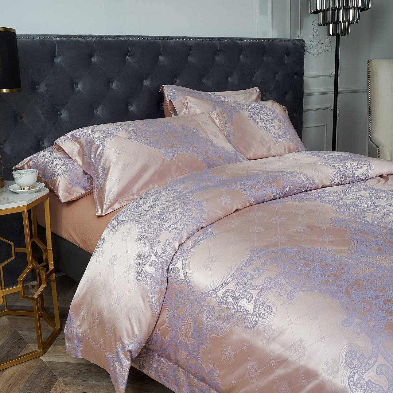 Dropshipping Wholesale-Luxury Jacquard Material Dolce-Mela Bedding DM805Q