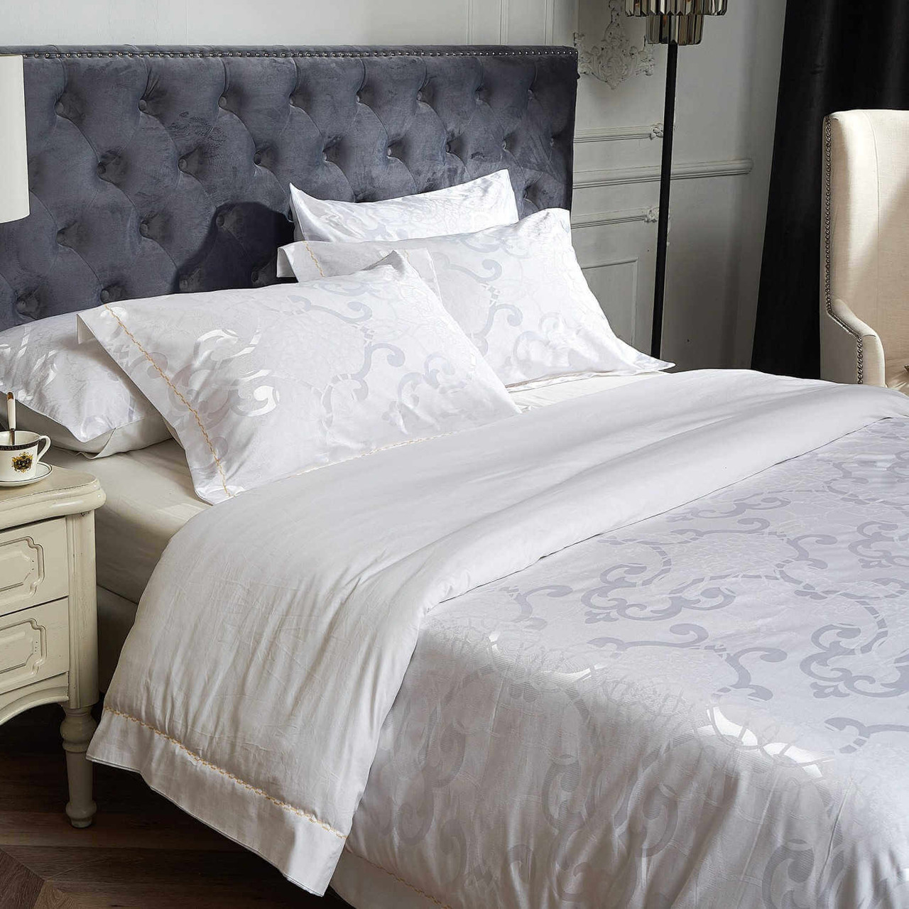 Drop shipping Wholesale Jacquard Material Dolce-Mela Bedding DM806K