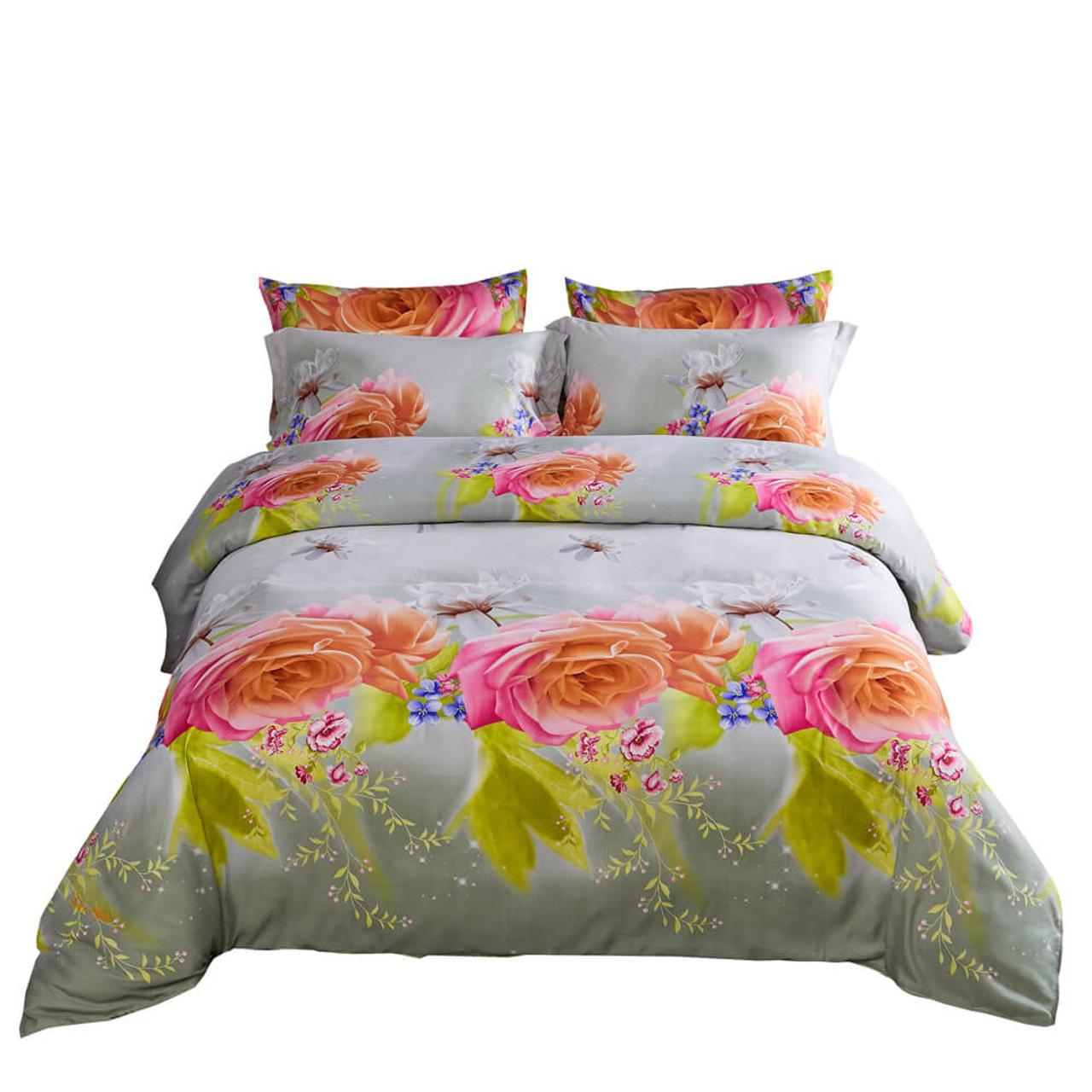 Drop-shipping Wholesale Floral Bedding Set DM723K