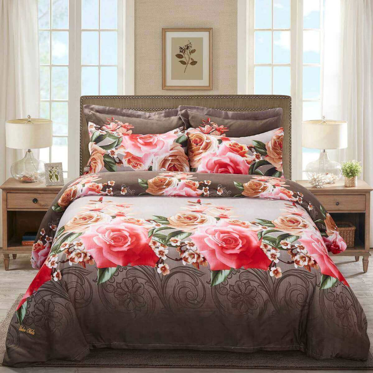 DM708K Duvet Cover Set - Dolce-Mela Bedding