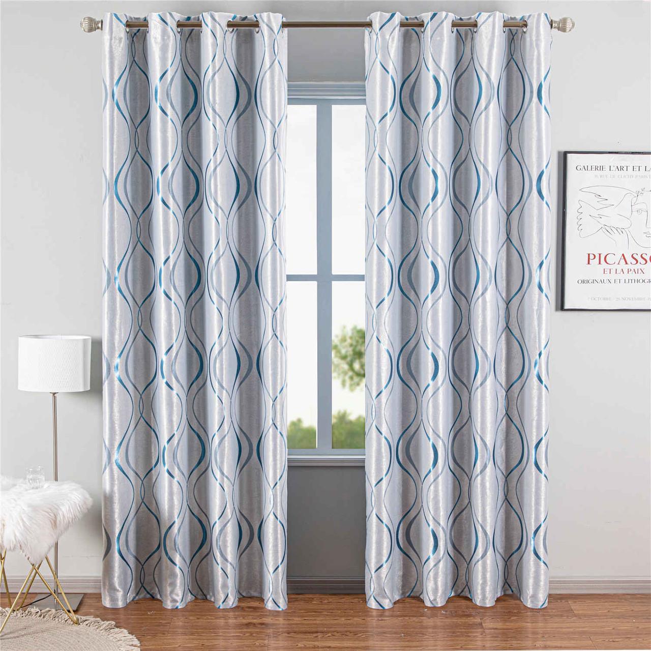 Curtain Panel Semi-Blackout Drapes, DMC498 Dolce Mela Odesa Window Treatments