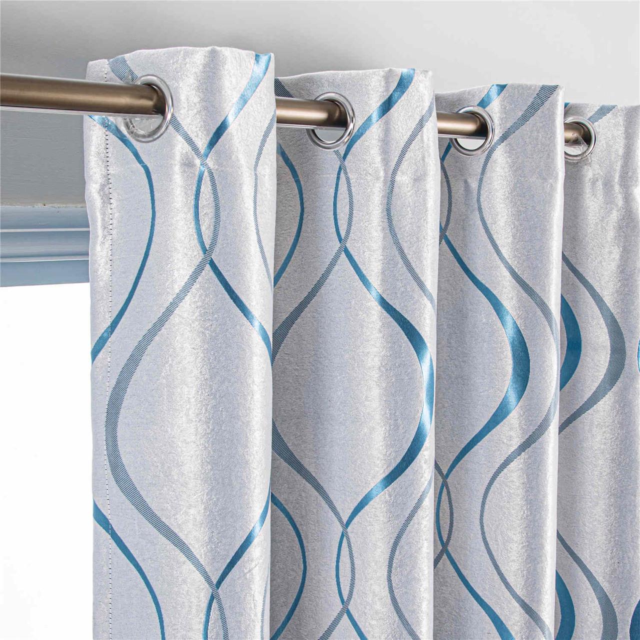 8171460155806  Curtain Panel Semi-Blackout Drapes, DMC498