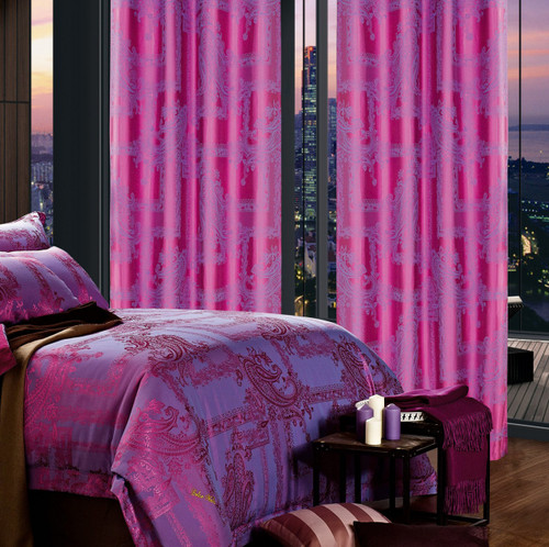 DMC461 Dolce Mela Drapery Panels with matching bedding DM471Q & DM471K