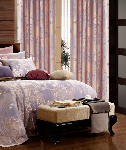 DMC465 Dolce Mela Drapery Panels with matching bedding DM475Q & DM475K