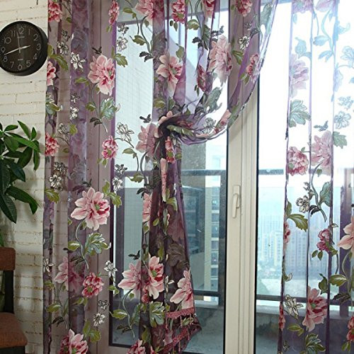 Dolce Mela Sheer Curtain Panels - Bucharest DMC474