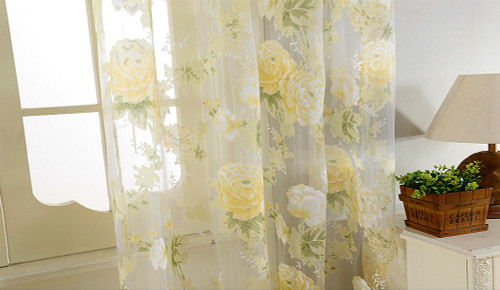 Sheer Curtain Panels - Lyon DMC476