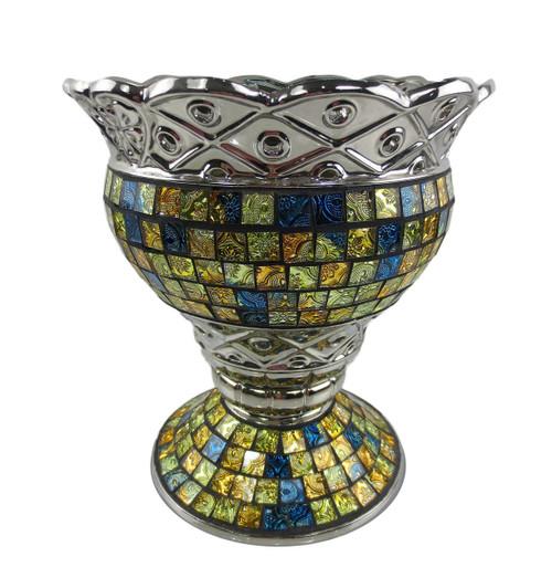 Tall decorative ceramic glass cylinder floral vases  Albina Dolce Mela DMCV001