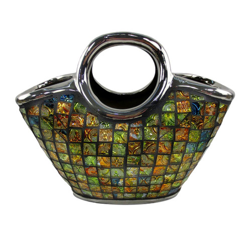 Purse floral decorative ceramic glass vases Pomona by Dolce Mela DMCV003