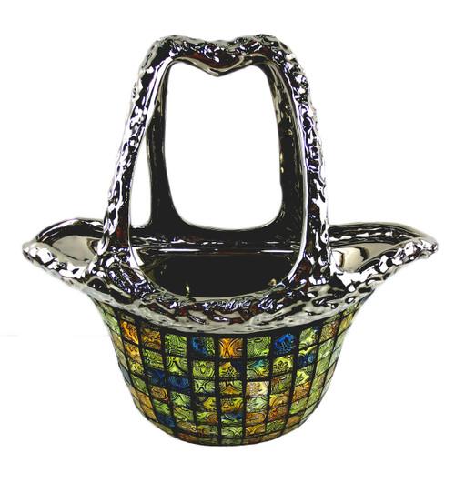 Tall decorative ceramic purse glass vases Persephone by Dolce Mela DMCV005