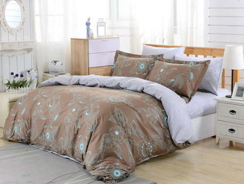 DM629Q Duvet Cover  Set, Dolce Mela Lefkada Bedding