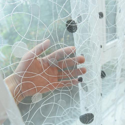 Dolce Mela - Pearly - Sheer Curtain Panel DMC483