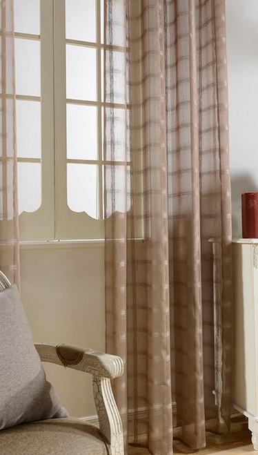 Dolce Mela Sheer Curtain Panels - Golden Isles - DMC485