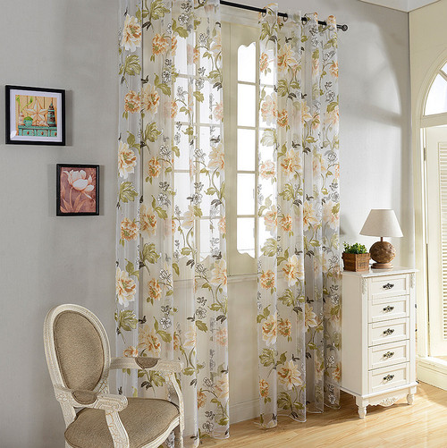 DMC491 Dolce Mela Sheer Curtain Panels - Palm Springs