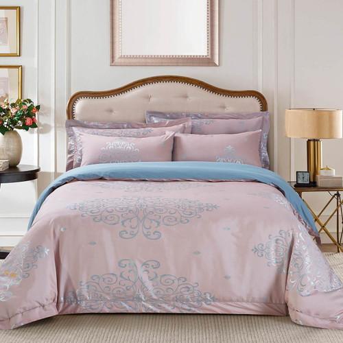 Jacquard King Duvet Cover Set Bedding Dolce Mela DM504K