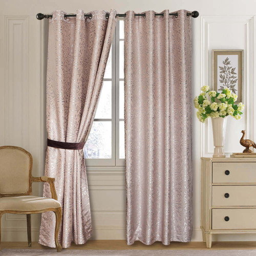 Curtain Panel Semi-Blackout Drapes, DMC713 Dolce Mela Olympia Window Treatments