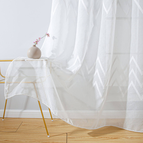Sheer Curtain Panel Grommet-Top Window Treatments DMC727 Dolce Mela 8171460151914