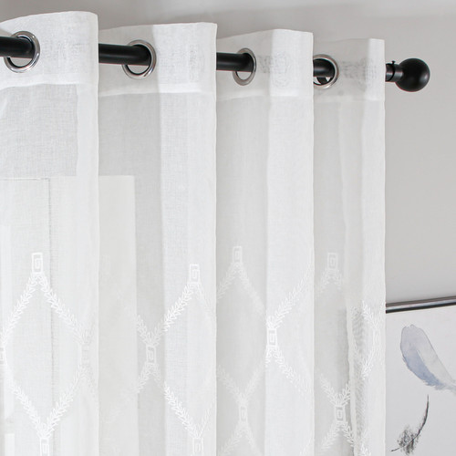 Grommet-Top Window Treatments Sheer Curtain Panels DMC732 Dolce Mela 8171460152454