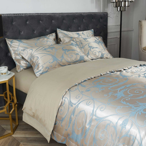 DM800K - St. Petersburg - 6 Pieces Luxury Jacquard King Size Duvet Cover Set