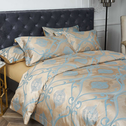 Dropshipping Wholesale-Luxury Jacquard Material Dolce-Mela Bedding DM804Q