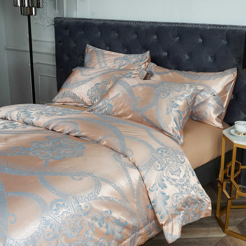 Dropshipping Wholesale-Luxury Jacquard Material Dolce-Mela Bedding DM803K