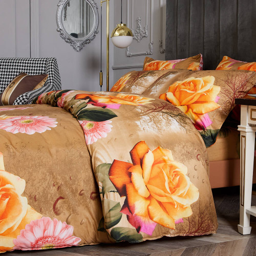 DM721Q  Floral Reversible Bedding Set Dropship